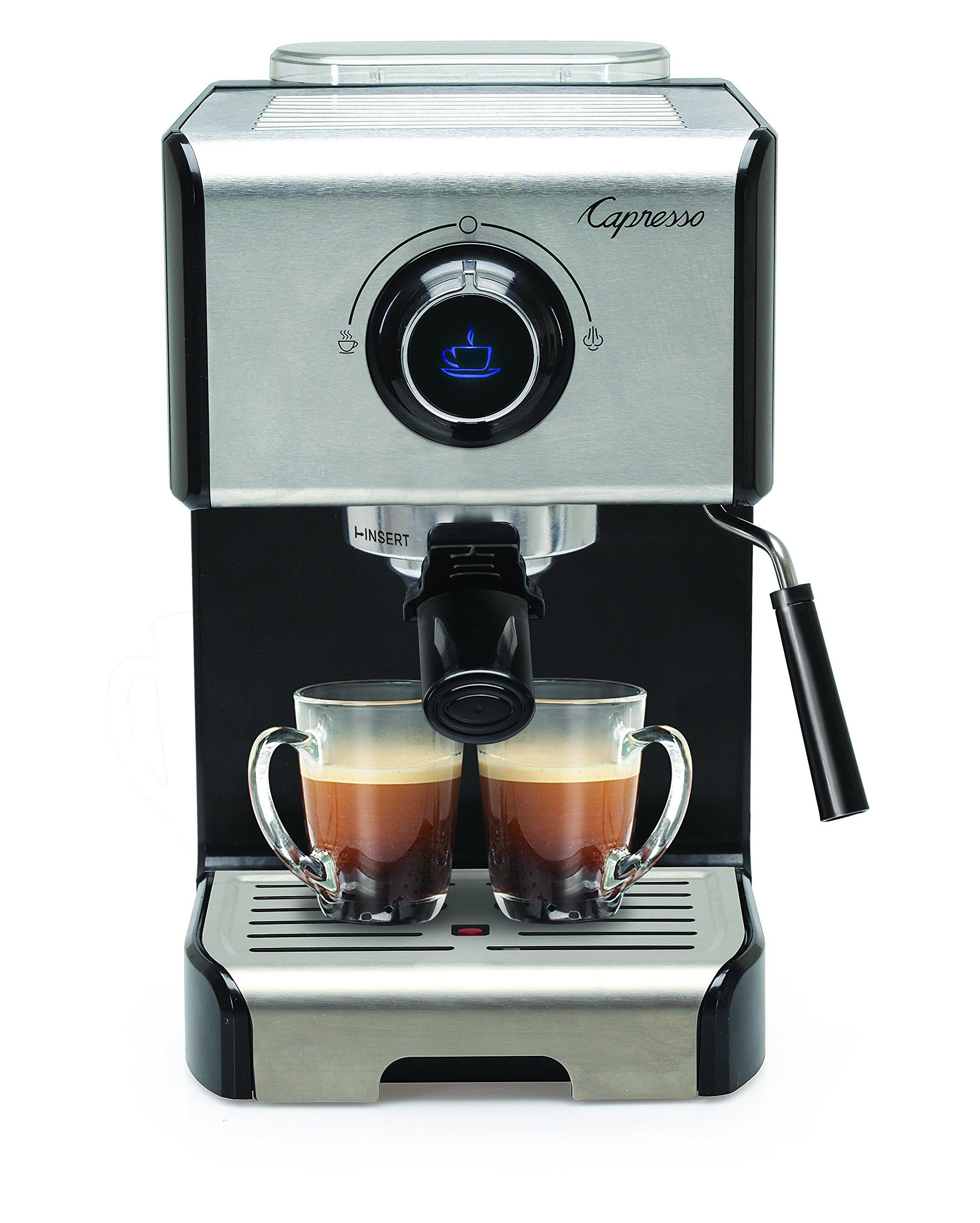 Capresso 123.05 EC300 Cappuccino Espresso Machine, 42, Stainless Steel/Black by Capresso