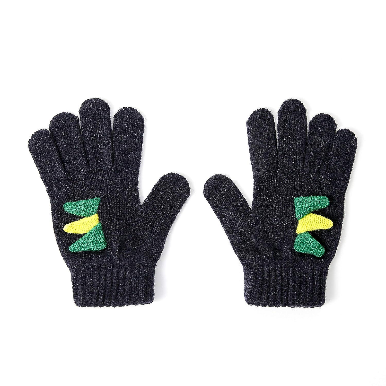 accsa Toddler Kids Boy Novelty Knit Chunky Beanie Hat /& Gloves Set Age 6-9 YRS