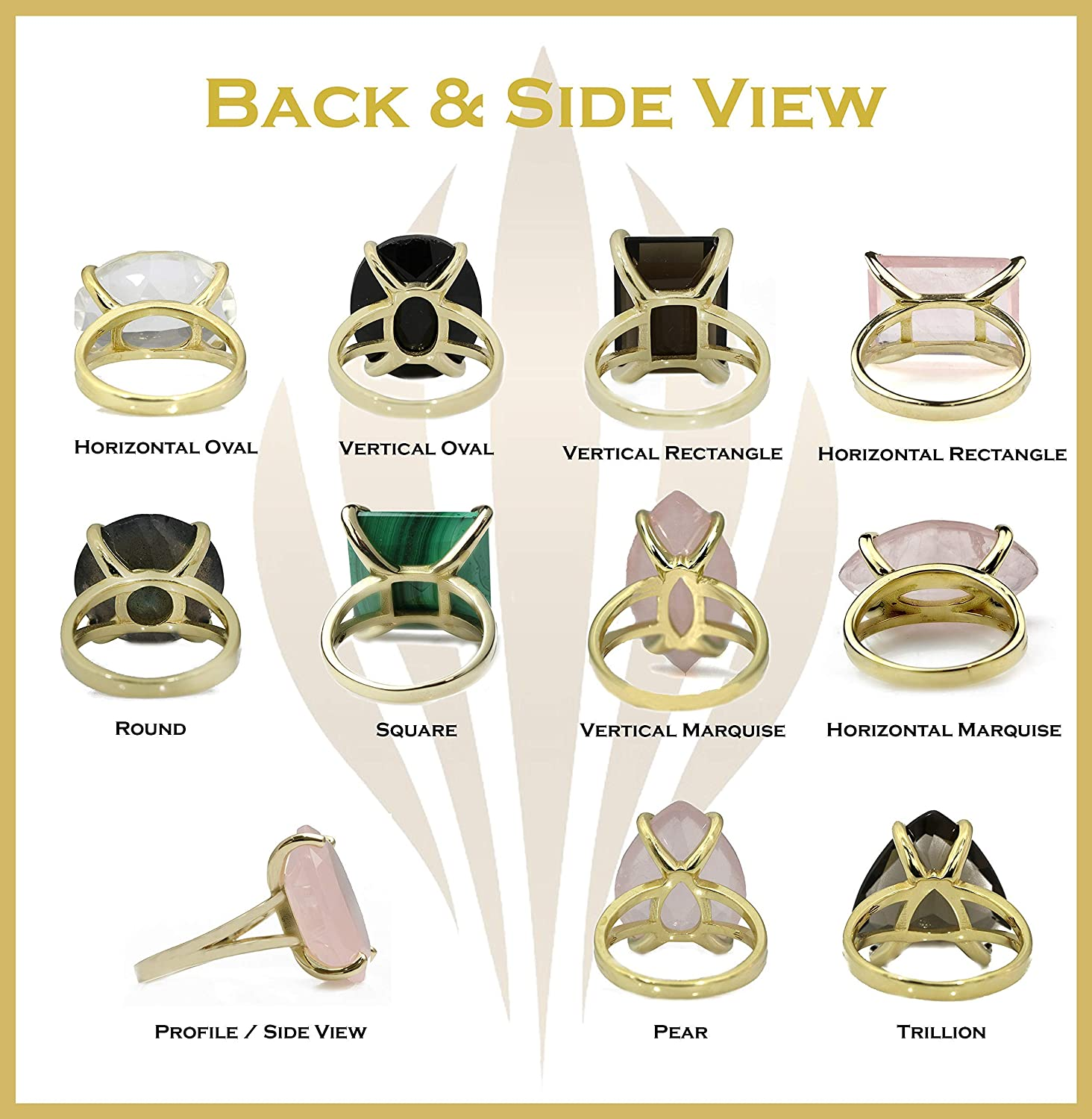 Sister with Jewelry Box Anemone Jewelry Womens 14k Gold Rings Fashionable Semi Precious Stone Rings Gifts for Wife Mom Vibrant Amethyst Jewelry Ring in Double Band