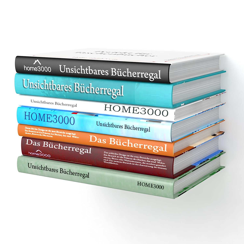 Set di 2 scaffali a L invisibili per libri Home3000