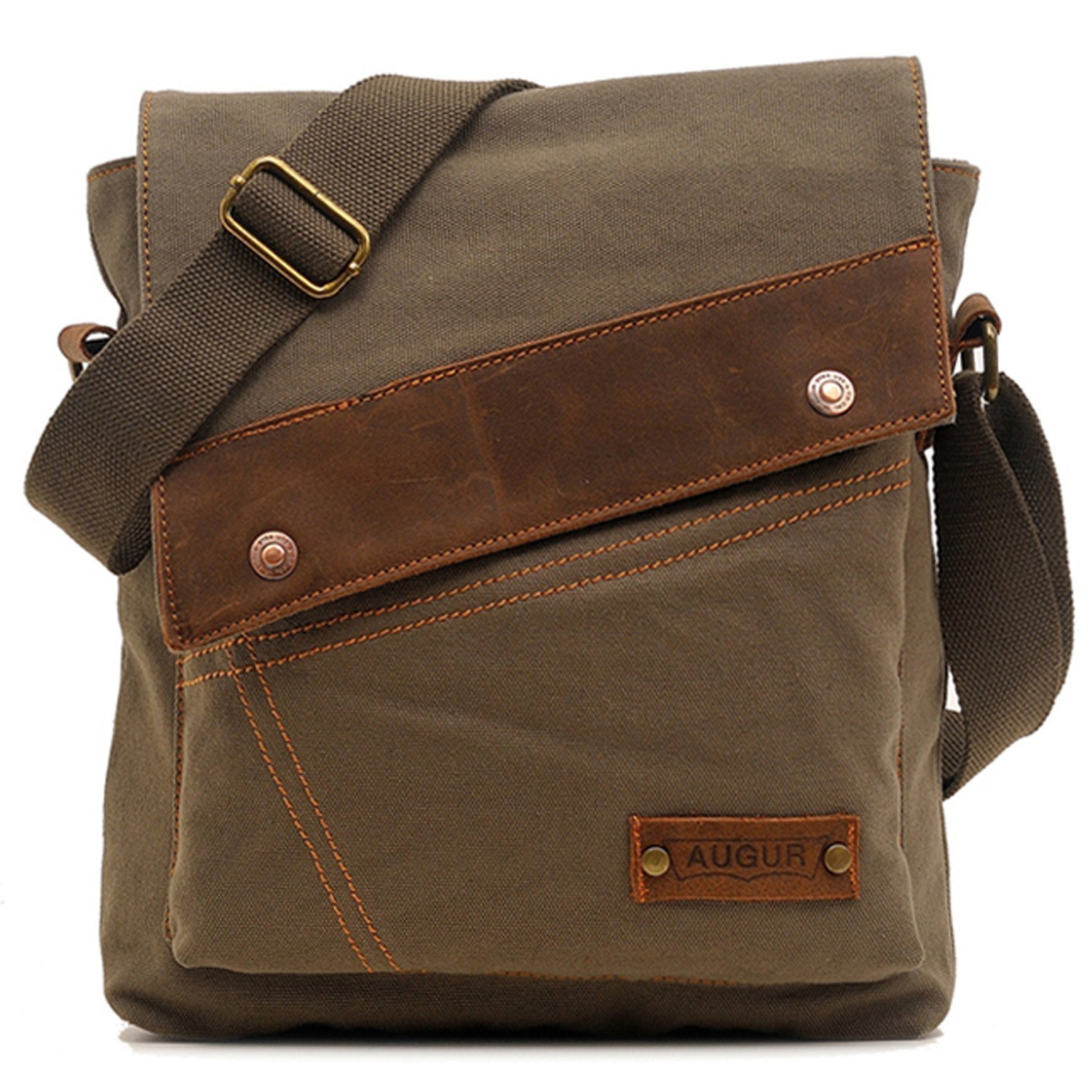 76203a632b2 Amazon.com   Aibag Messenger Bag, Vintage Small Canvas Shoulder Crossbody  Purse (Army Green)   Messenger Bags