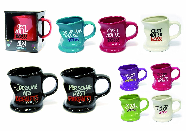 """Assez Mug Tasse Froissé / Déformé """"Message humoristique"""": Amazon.fr  MP61"""