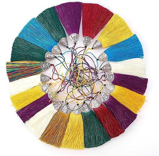 50 Pcs Mixto 50 pcs Mini Borlas de Hilo Flecos Colores Aleatorios para Manualidades con Anilla de Metal ENV/ÍO DESDE ESPA/ÑA RUBY