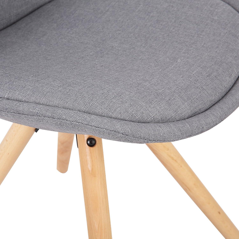 WOLTU BH196bl-4 Set di 4 Sedie da Pranzo Moderna Seduta Imbottita con Schienale Senza Braccioli in Velluto Blu