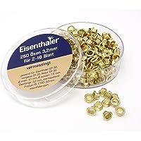 Eisenthaler 250 Ösen ET30-3,2mm, vermessingt für 2-10 Blatt