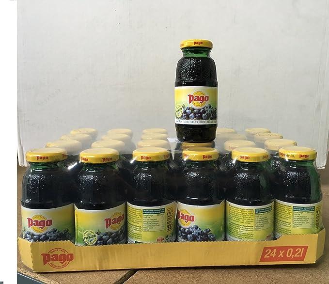 Pago jugo de arándano cl 20 x 24 botellas de vidrio de jugo de fruta