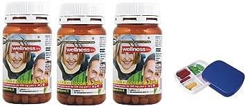 Suplementos Próstata Salud Bienestar con píldoras 3 BOX 60 Tabletas Formulación con Serenoa Repens (Saw