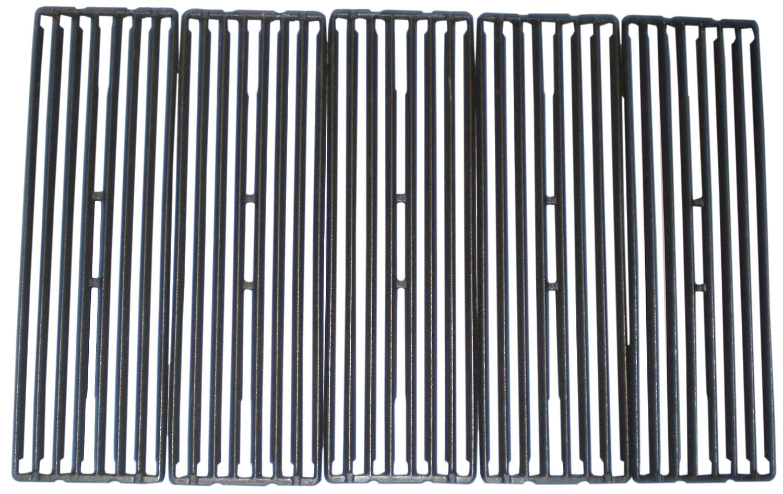 Music City Metals 67845 Grillrostset aus mattem Gusseisen für Gasgrills der Marke Broil King - Schwarz (2-teilig)