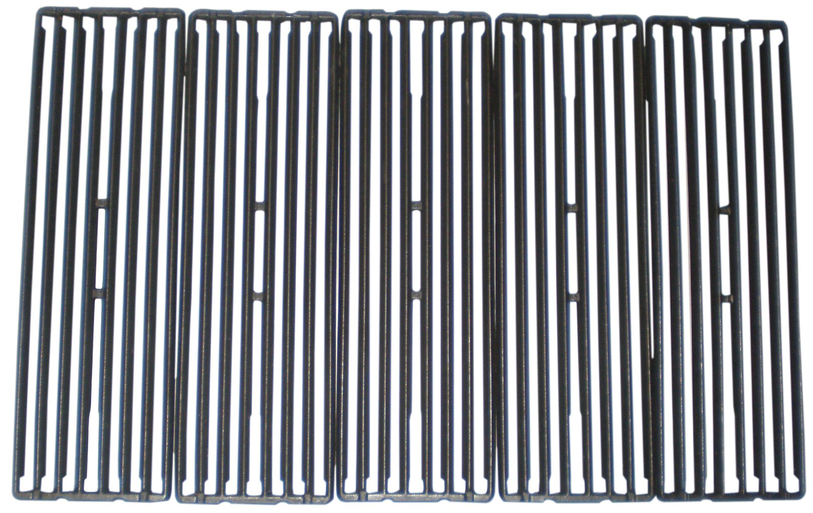 Music City Metals 67845 Matte Cast Iron Cooking Grid Replacement for Select Gas Grill Models by Broil King, Huntington and Others, Set of 5