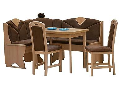 German Furniture Warehouse 4 Piece Breakfast Nook, Modern Dining Set,  Kitchen Nook Corner Sets