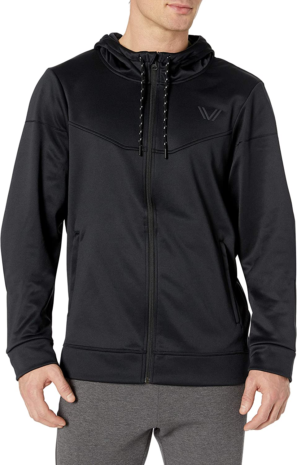 Amazon Brand - Peak Velocity Men's Quantum Fleece Full-Zip Loose-Fit Hoodie