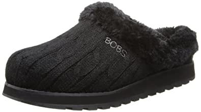 BOBS from Skechers Women's Keepsakes Delight Slipper,Black,5.5 ...