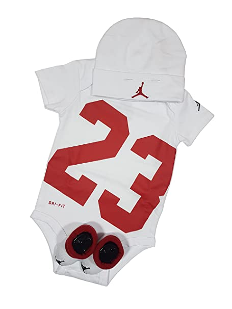 Jordan - Pelele - para bebé niño Blanco/Rojo 0-6 Meses 60-70cm: Amazon.es: Ropa y accesorios