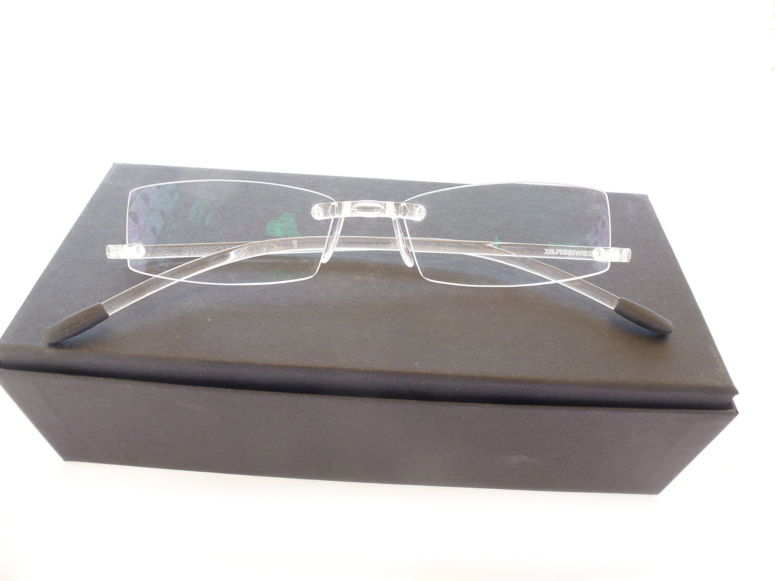Swissflex Eyephorics Reading glasses strength +2.00 color: Transparent Size: 52-17-140