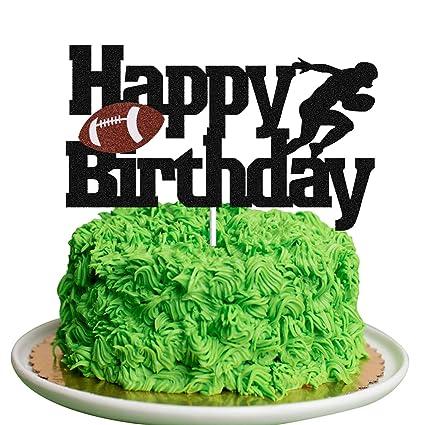 Pleasing Football Cake Topper Rugby Ball Happy Birthday Sign Cake Fruit Birthday Cards Printable Giouspongecafe Filternl