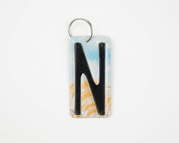 amazon com letter n key chain initial n key chain license plate