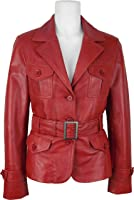 UNICORN Womens Fashion Leather Jacket Made With Red Soft Touch Leather #EI