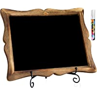 "11""x13"" Chalkboard Sign with Easel (Mahogany) + White Liquid Chalk Marker 