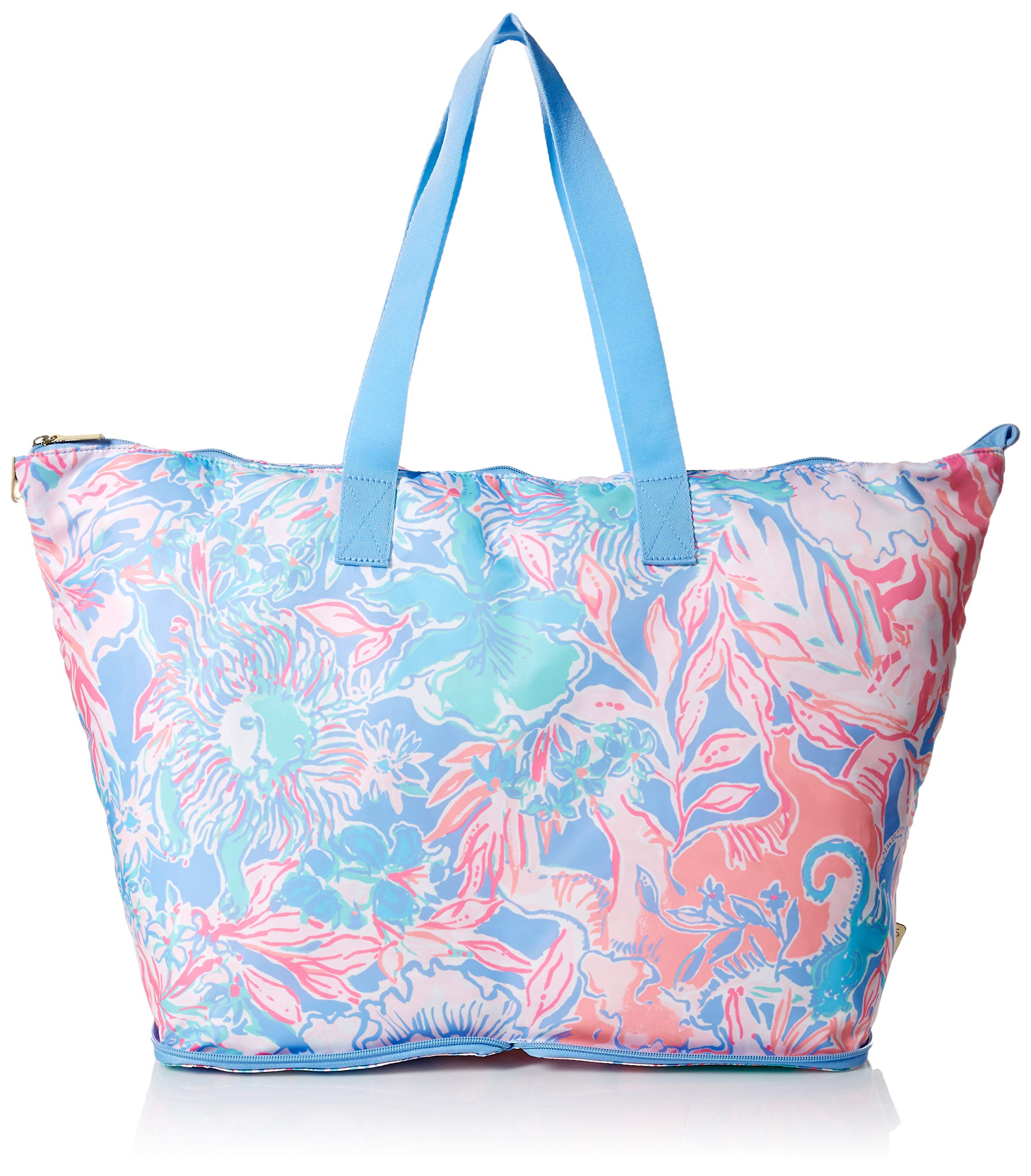 Lilly Pulitzer Women's Getaway Packable Tote, blue peri Viva La lilly, 1 SZ