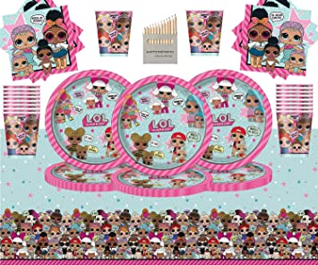 Doll Table Cover Girls Birthday Party LOL Tablecover 54 X 84 LOL Surprise
