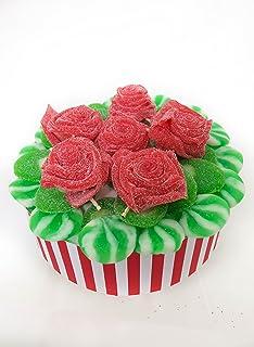 Tarta de Rosas con Rodajas Melón y Kiwi