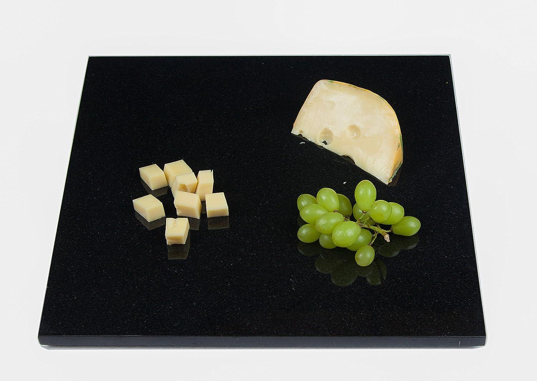 Servierplatte Aus Seltenem Schwarzen Granit Naturstein Unikat