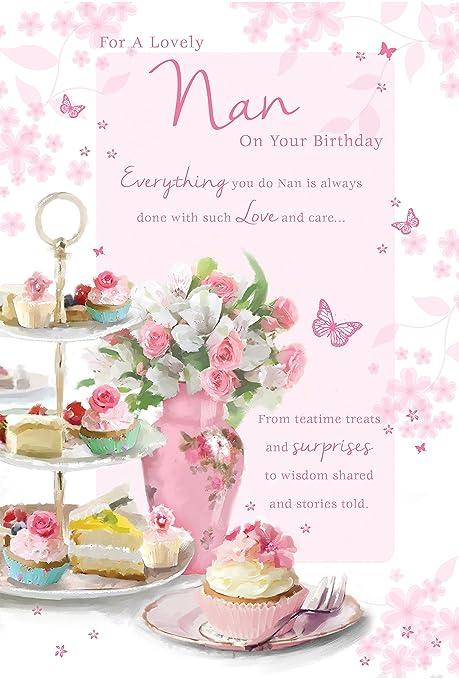 Tarjetas de cumpleaños familiares GORGEOUS coloridas flores ...