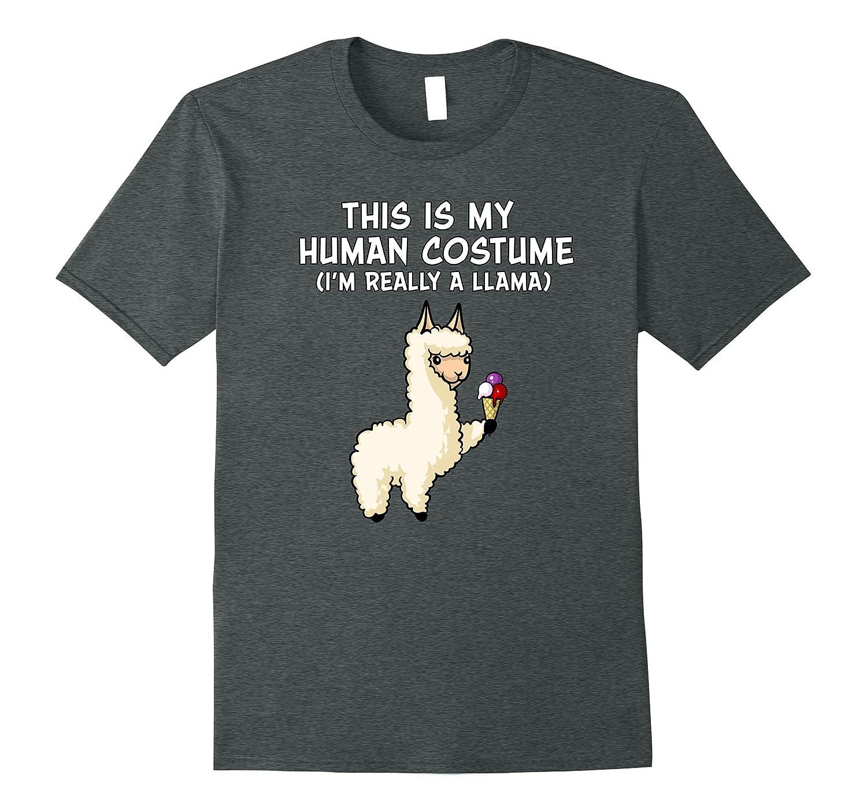 my human costume i 39 m a llama alpaca halloween t shirt anz. Black Bedroom Furniture Sets. Home Design Ideas