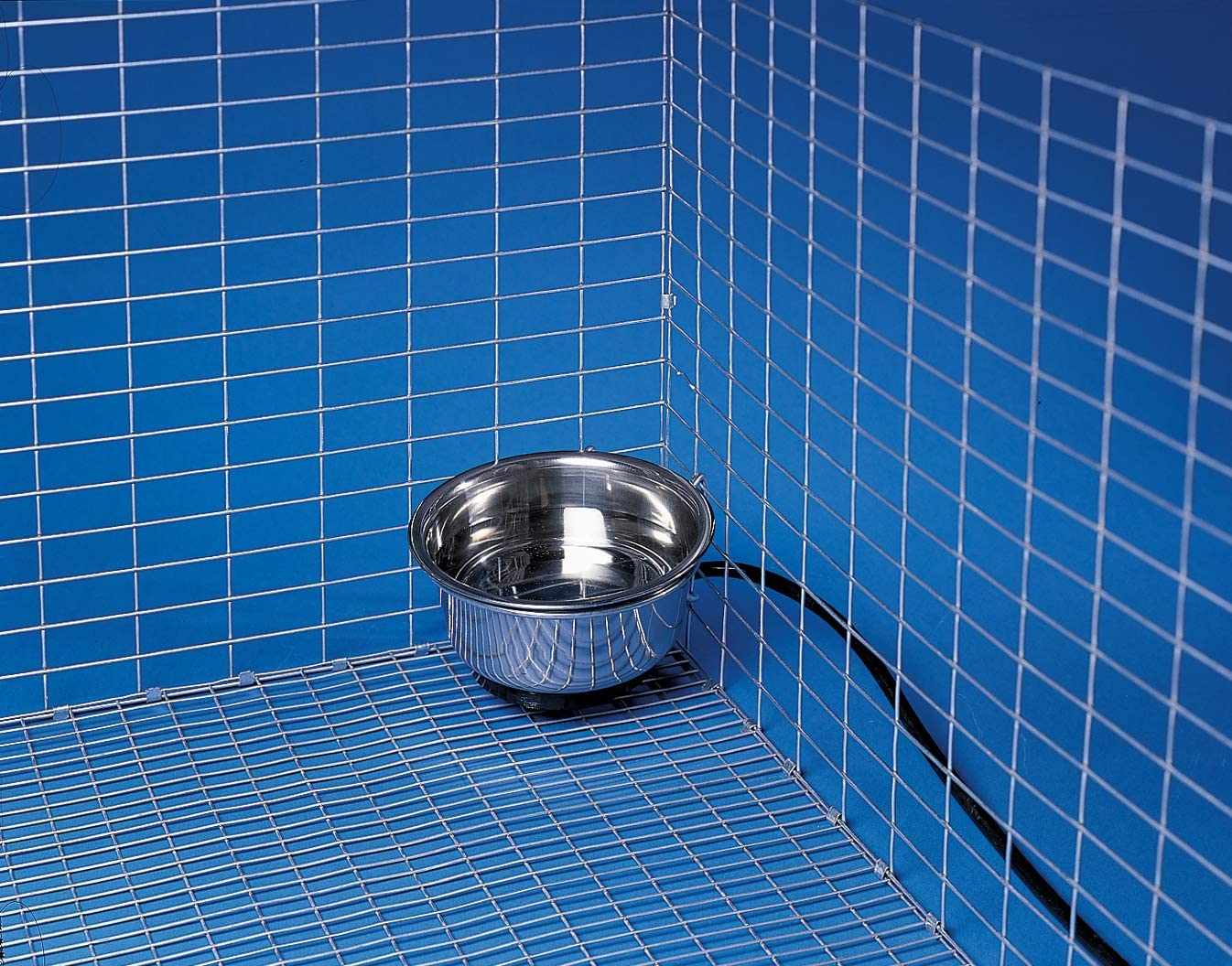 Allied Stainless Steel Heated Pet Bowl with Hutch Mount, 1-Quart