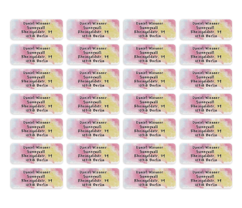 110 St/ück 34 Pattern Carografie Adress-Aufkleber Sticker mit Ihrem Wunschtext 53x 21mm 38 Hintergr/ünde zur Auswahl Adress-Etiketten f/ür 1 bis 5 Zeilen Text