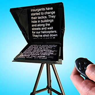 Adjustable Smartphone Teleprompter Beam Splitter for Home Interview Shooting Niome Mini Teleprompter DSLR Video Teleprompter w//Carry Case