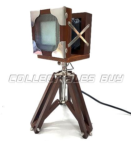 Collectibles Buy Antique Vintage Tripod Camera LED Desk Lamp Functional LED  Panel 12 Watt Home & - Amazon.com: Collectibles Buy Antique Vintage Tripod Camera LED Desk
