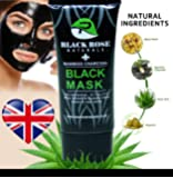 BLACK ROSE NATURALS Activated Bamboo Charcoal Peel Off Face Black Mask With AloeVera. For Blackhead, Whitehead, Pore, Acne Removal Deep Facial Cleansing Oil Control Moisturising Face Mask.