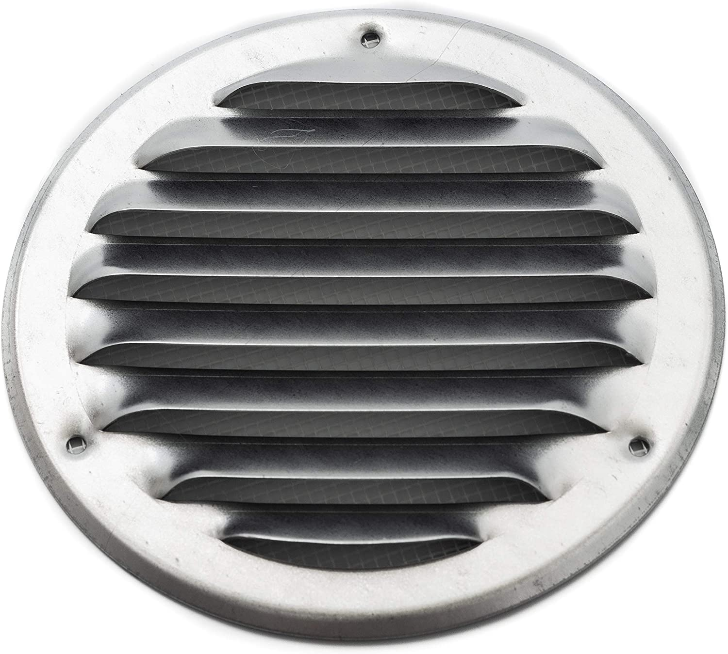 Vent Systems 6'' Inch Galvanized Soffit Vent Cover - Round Air Vent Louver - Grill Cover - Built-in Insect Screen - HVAC Vents for Bathroom, Home Office, Kitchen