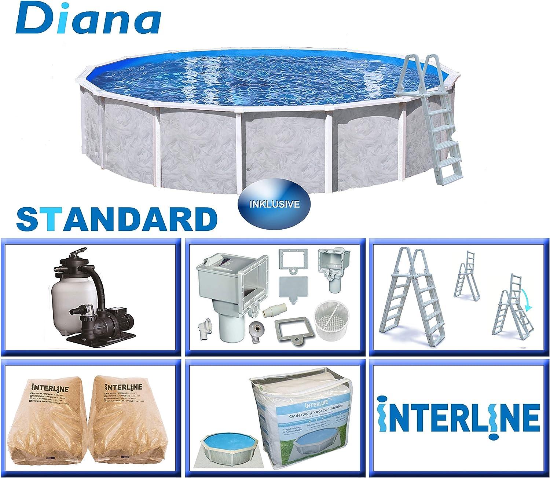 Interline 55000052 Diana A y 96188 Acero Pared Pool 5, 50 m x 1 ...