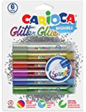 Carioca Yıkanabilir Simli Tutkal Sparkle 6 Adet Tüp x 10,5 ml