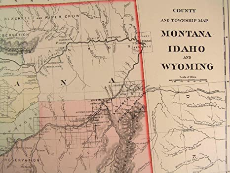 Amazoncom Montana Idaho Wyoming Mountain Ranges Reservations - Map of montana and wyoming