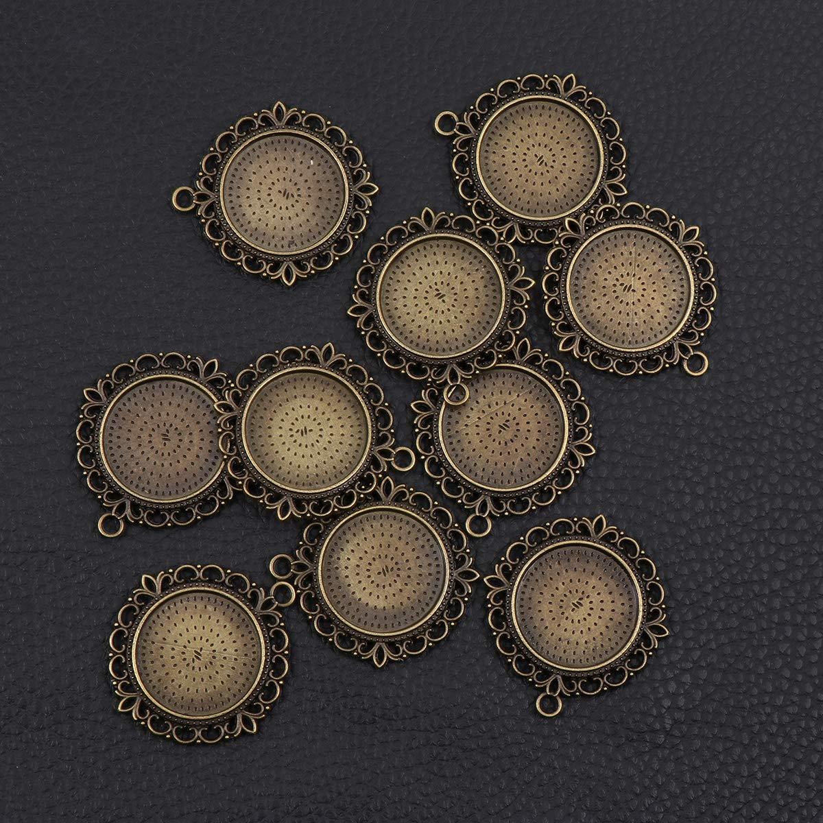 Healifty 10 Piezas de Bisel Redondo Colgante de Doble Cara para la elaboraci/ón de la joyer/ía de Bricolaje Regalo Haciendo