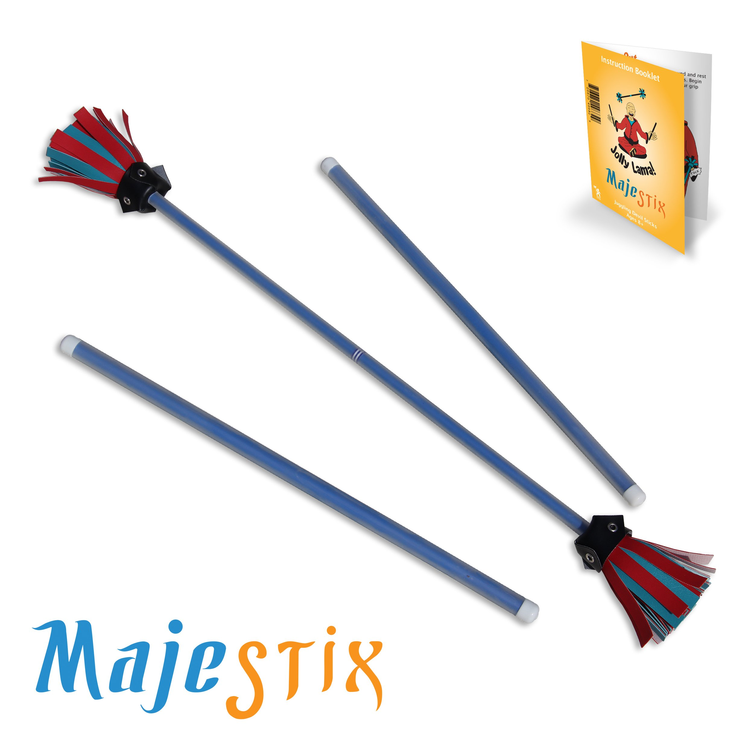 Blue Majestix Juggling Sticks Devil Sticks by Jolly Lama!