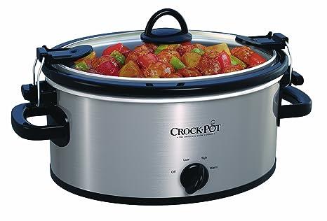 Amazon.com: Crock-Pot SCCPVL400-S Olla de 4 litros y cocina ...