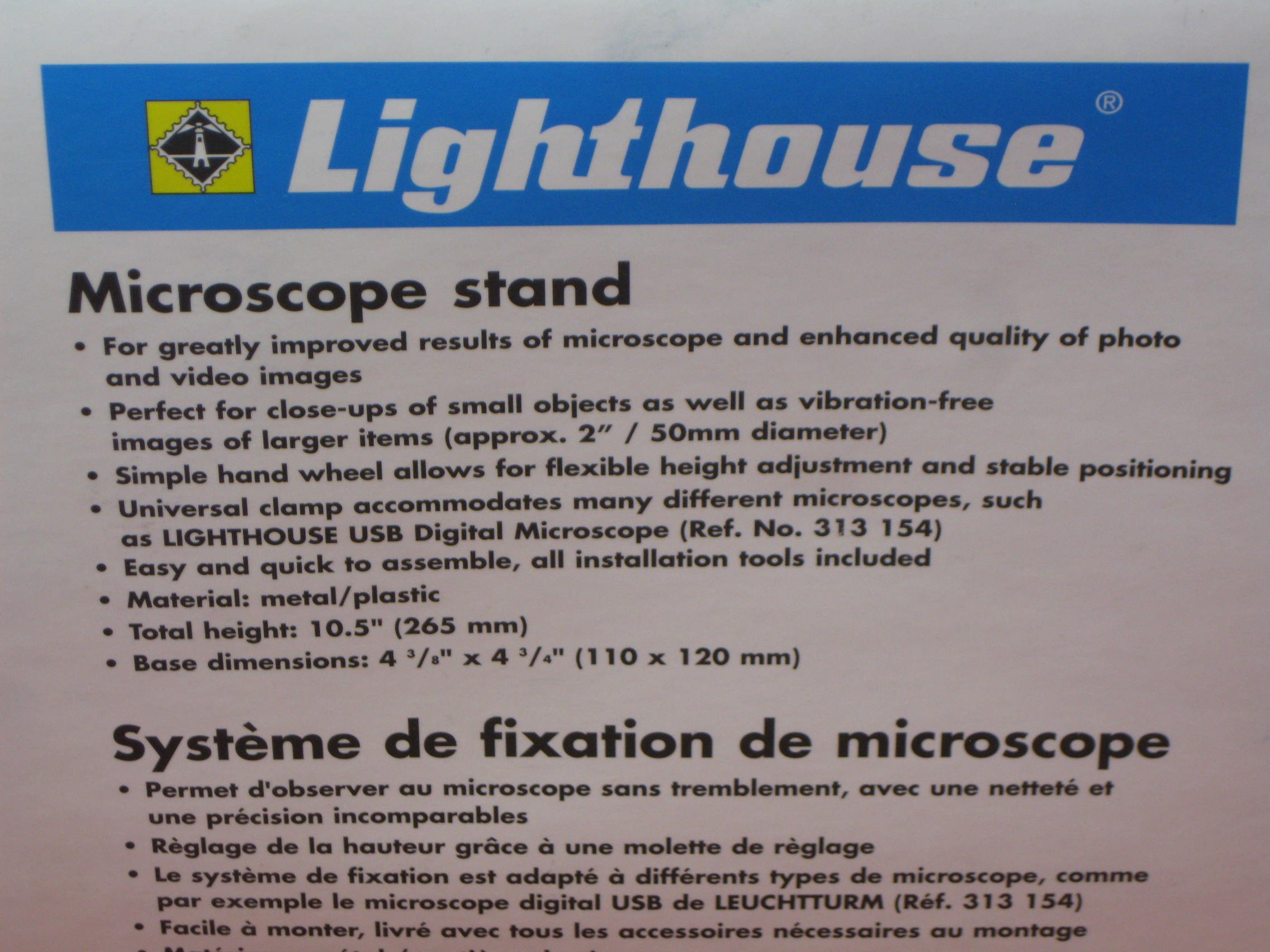 Lighthouse USB Coin & Stamp Digital Microscope With Stand Combo Adjust Height - COMBODMST