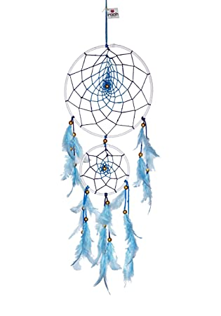 Rooh dream catcher blue large handmade hangings for positivity used as home décor