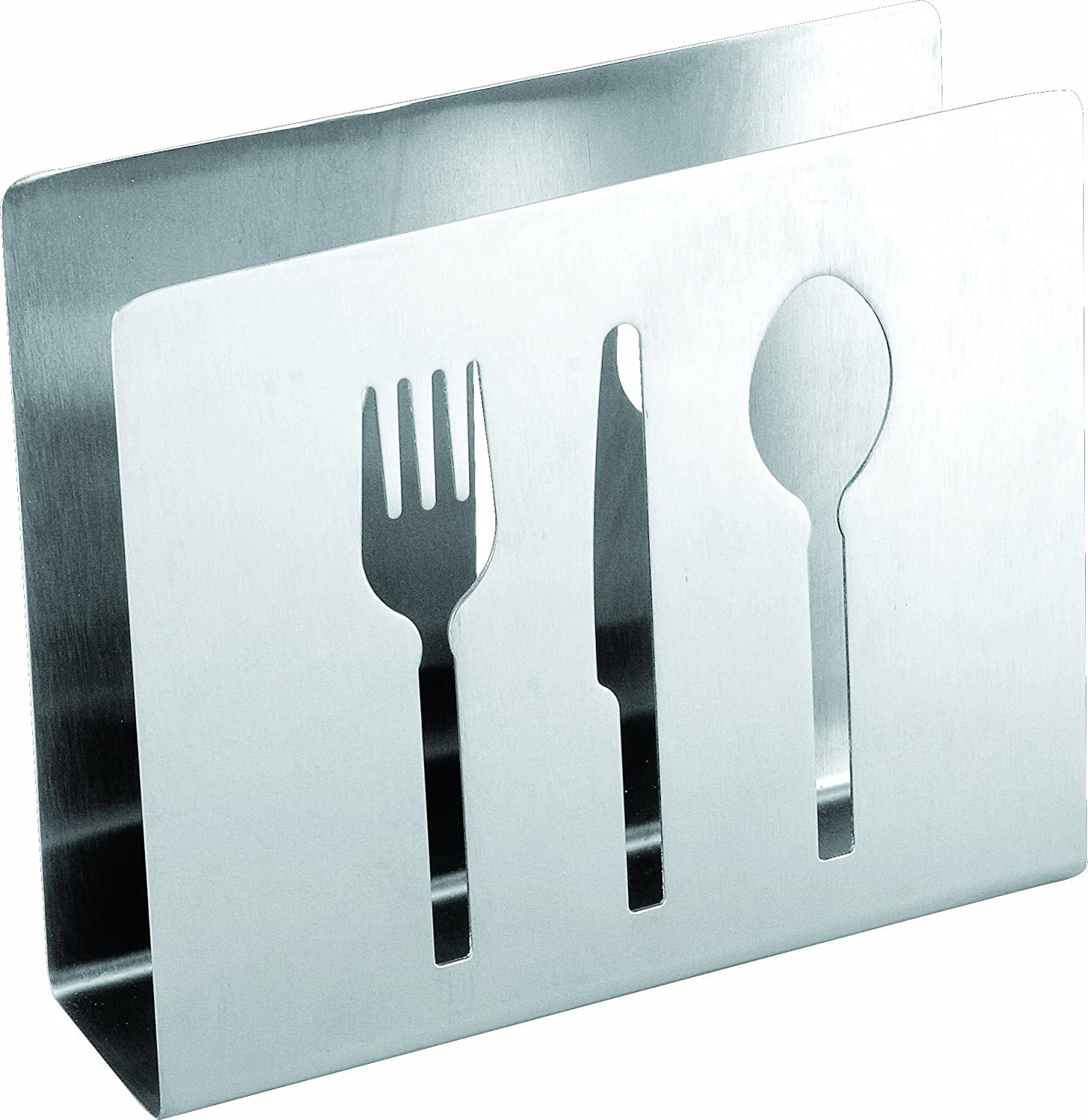 Cuisinox NAP-FTW Napkin Holder with Cut Outs, Stainless Steel Cuisinox (Import)