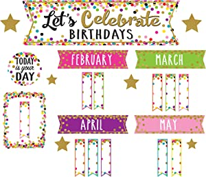 Confetti Let's Celebrate Birthdays Mini Bulletin Board
