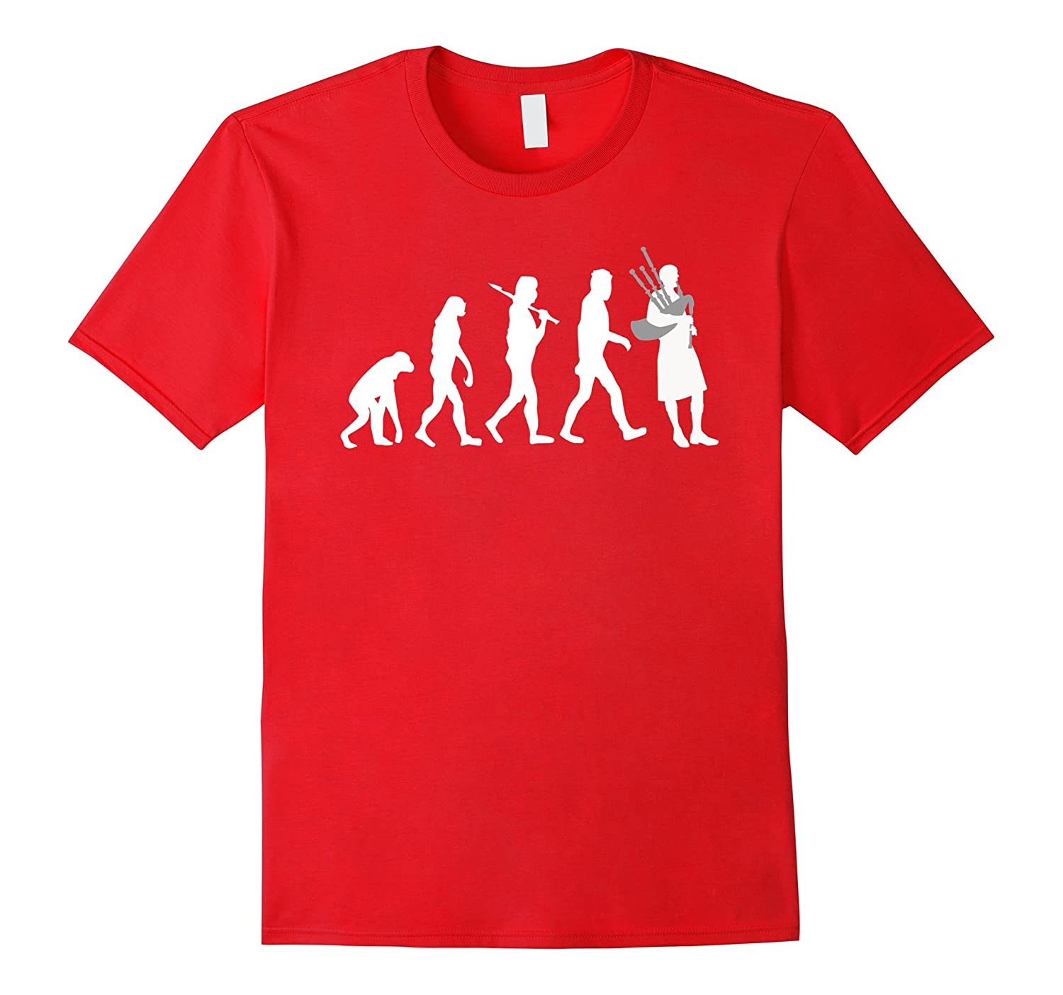 Bagpiper Evolution Funny Bagpipes Music T-Shirt-TD