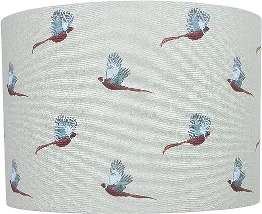 Pheasant Sophie Allport 20 cm Diameter x 18 cm High Ceiling Pendant Green Paralume a tamburo