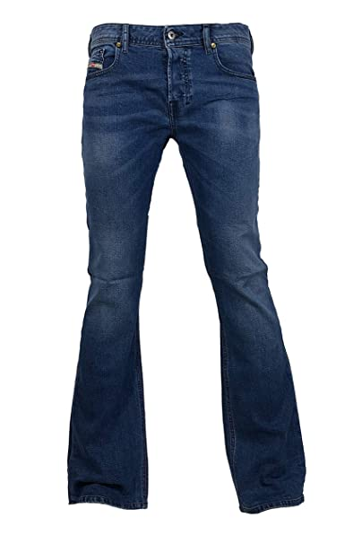 Diesel Mens Boot-Cut Stretch Jeans Zathan R88U4 Blue