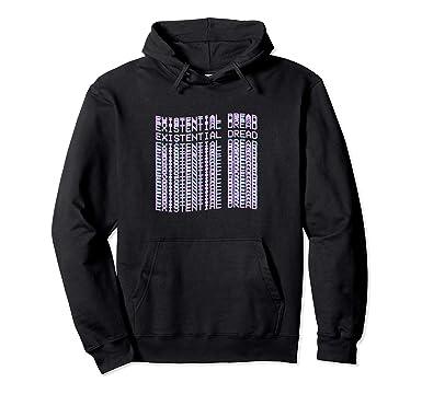 4d46ee65f8 Unisex Existential Dread Hoodie - Aesthetic Vaporwave Streewear 2XL Black