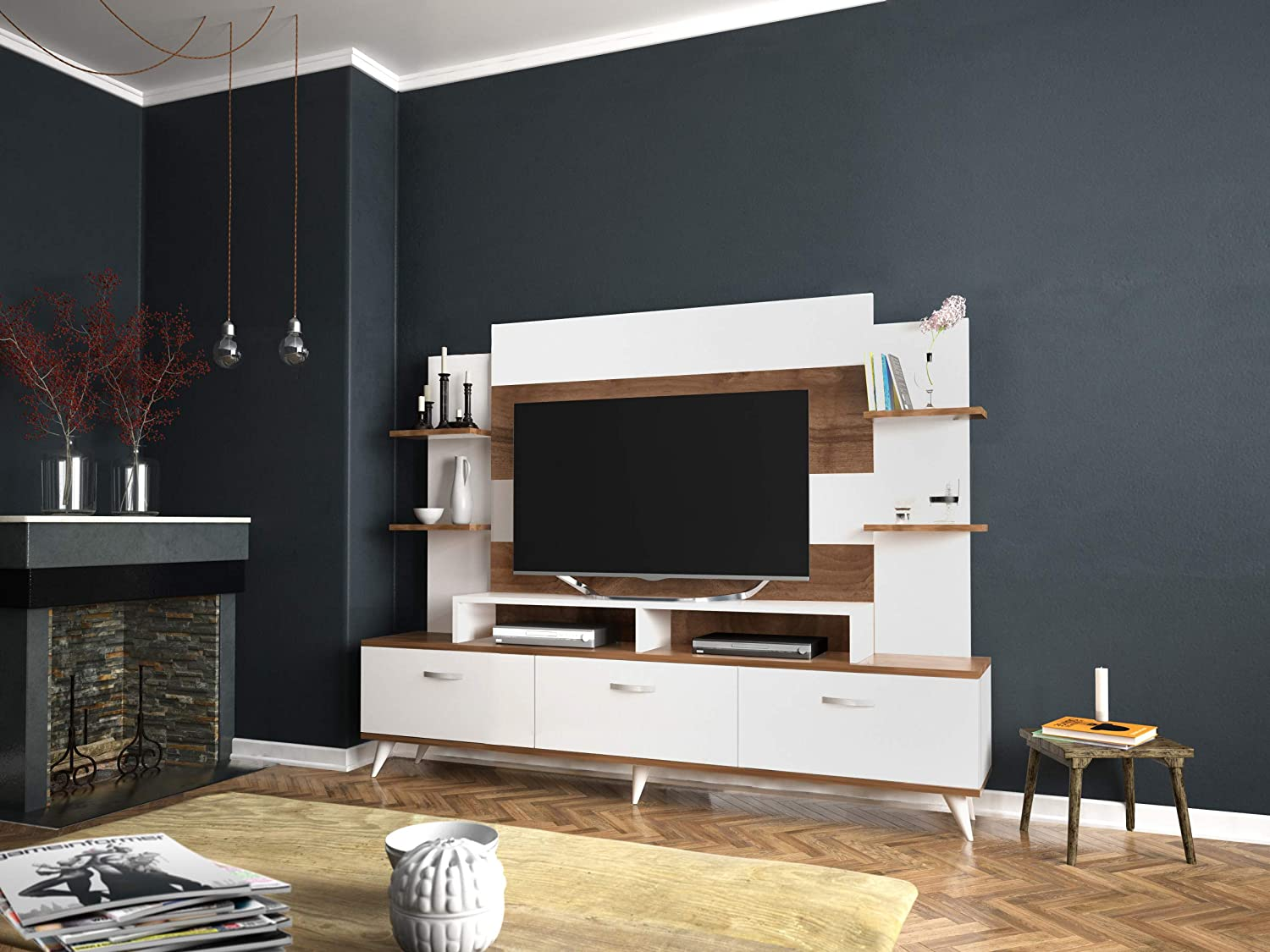 Amazon.com: Decorotika Diana TV Stand and Entertainment ...