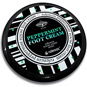 Rolencos Peppermint Moisturizing Foot Cream 4.20oz, Callus Remover, Thick, Cracked, Rough, Dead and Dry, Hard Feet, Heels, Soles, Professional Crack Foot Care Rescue Cream